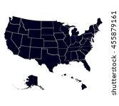 set of us states in the map of... | Shutterstock .eps vector #455879161