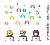 social media  network people... | Shutterstock .eps vector #455879389