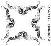 vintage baroque ornament. retro ... | Shutterstock .eps vector #455879794