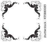 vintage baroque ornament. retro ... | Shutterstock .eps vector #455880085