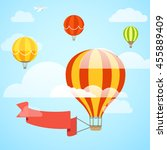 flying color ballon with the... | Shutterstock .eps vector #455889409