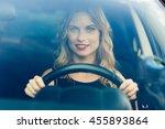 portrait shot through... | Shutterstock . vector #455893864