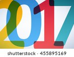 happy new year 2017 colorful... | Shutterstock .eps vector #455895169