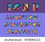 vector abstract alphabet | Shutterstock .eps vector #455896111