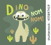 cute dinosaur mascot template.... | Shutterstock .eps vector #455897419