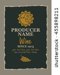 wine label with a picture of... | Shutterstock .eps vector #455898211