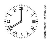 clock face with roman numerals. ... | Shutterstock . vector #455902951
