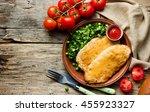 Chicken Schnitzel With Cheese...