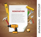 home renovation banner with...   Shutterstock .eps vector #455931169