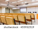 modern space of lecture room... | Shutterstock . vector #455932519