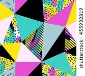 geometric seamless pattern in... | Shutterstock .eps vector #455932819