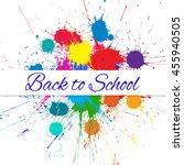 vector back to school banner... | Shutterstock .eps vector #455940505