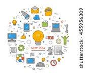 line design concept web banner