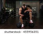 portrait of a muscular man... | Shutterstock . vector #455956351
