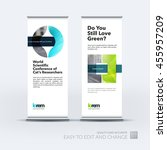 vector set of modern roll up... | Shutterstock .eps vector #455957209