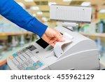 cash register. | Shutterstock . vector #455962129