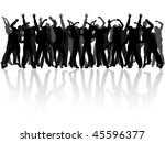 dancing people silhouettes  ... | Shutterstock .eps vector #45596377