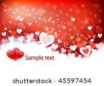 valentines background with... | Shutterstock .eps vector #45597454