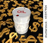 High Price of Oil barrel - 3d - stock photo