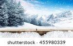 winter blue landscape of alps... | Shutterstock . vector #455980339