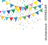 holiday background with bunting ... | Shutterstock .eps vector #455983189
