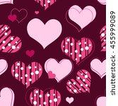 seamless hearth pattern   Shutterstock . vector #455999089