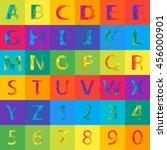 vector colored alphabet set...