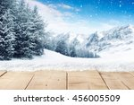 blue winter sky and alps... | Shutterstock . vector #456005509