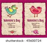 valentine's day vintage paper... | Shutterstock .eps vector #45600724