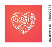 template card heart with... | Shutterstock .eps vector #456007375