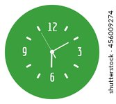 a clock face vector icon . six... | Shutterstock .eps vector #456009274