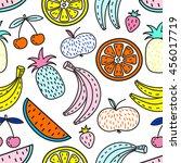 vector seamless pattern of... | Shutterstock .eps vector #456017719