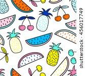 vector seamless pattern of... | Shutterstock .eps vector #456017749
