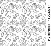 vector seamless pattern with... | Shutterstock .eps vector #456023959