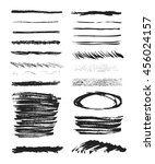 set of black grunge brushes.... | Shutterstock .eps vector #456024157