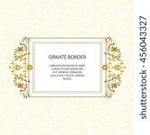 vector decorative frame.... | Shutterstock .eps vector #456043327