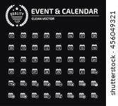 calendar icon set vector | Shutterstock .eps vector #456049321