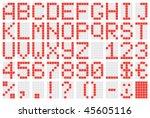 alphabet   Shutterstock .eps vector #45605116