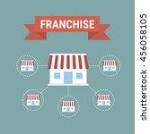 business concept  franchise... | Shutterstock .eps vector #456058105