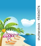 sea and beach | Shutterstock .eps vector #45606076