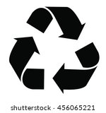 recycle sign on white background   Shutterstock .eps vector #456065221
