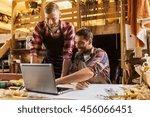 profession  carpentry ... | Shutterstock . vector #456066451