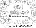back to school vector elements. ... | Shutterstock .eps vector #456067099