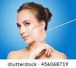 beauty  people and skin care... | Shutterstock . vector #456068719