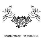 birds tattoo isolated icon...