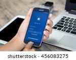 chiang mai thailand   july 21 ... | Shutterstock . vector #456083275