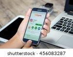 chiang mai thailand   july 21 ...   Shutterstock . vector #456083287