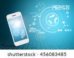 smart phone and technology...   Shutterstock . vector #456083485