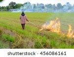 Thai Farmers Are Burning Straw...