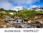 Mountain And Waterfall.